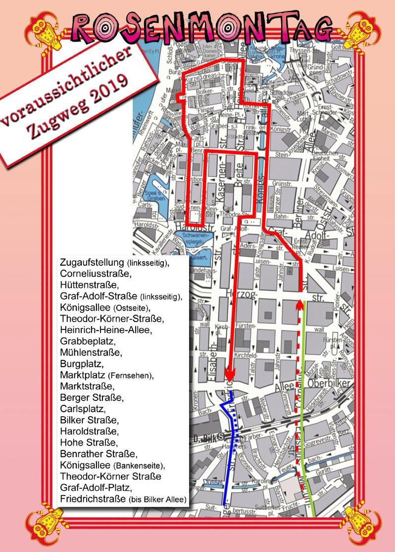 Zugweg Rosenmontag Düsseldorf 2021